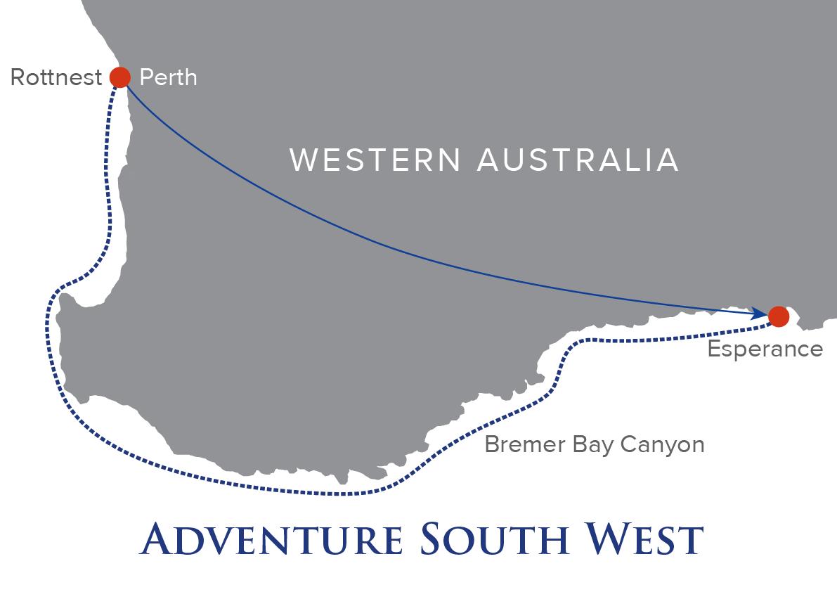 Map Of South Western Australia.South West Australia Cruise True North Adventure Cruises