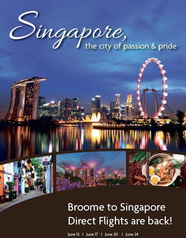 Broome Singapore Direct Flights
