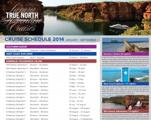 2014 True North Cruise Schedule