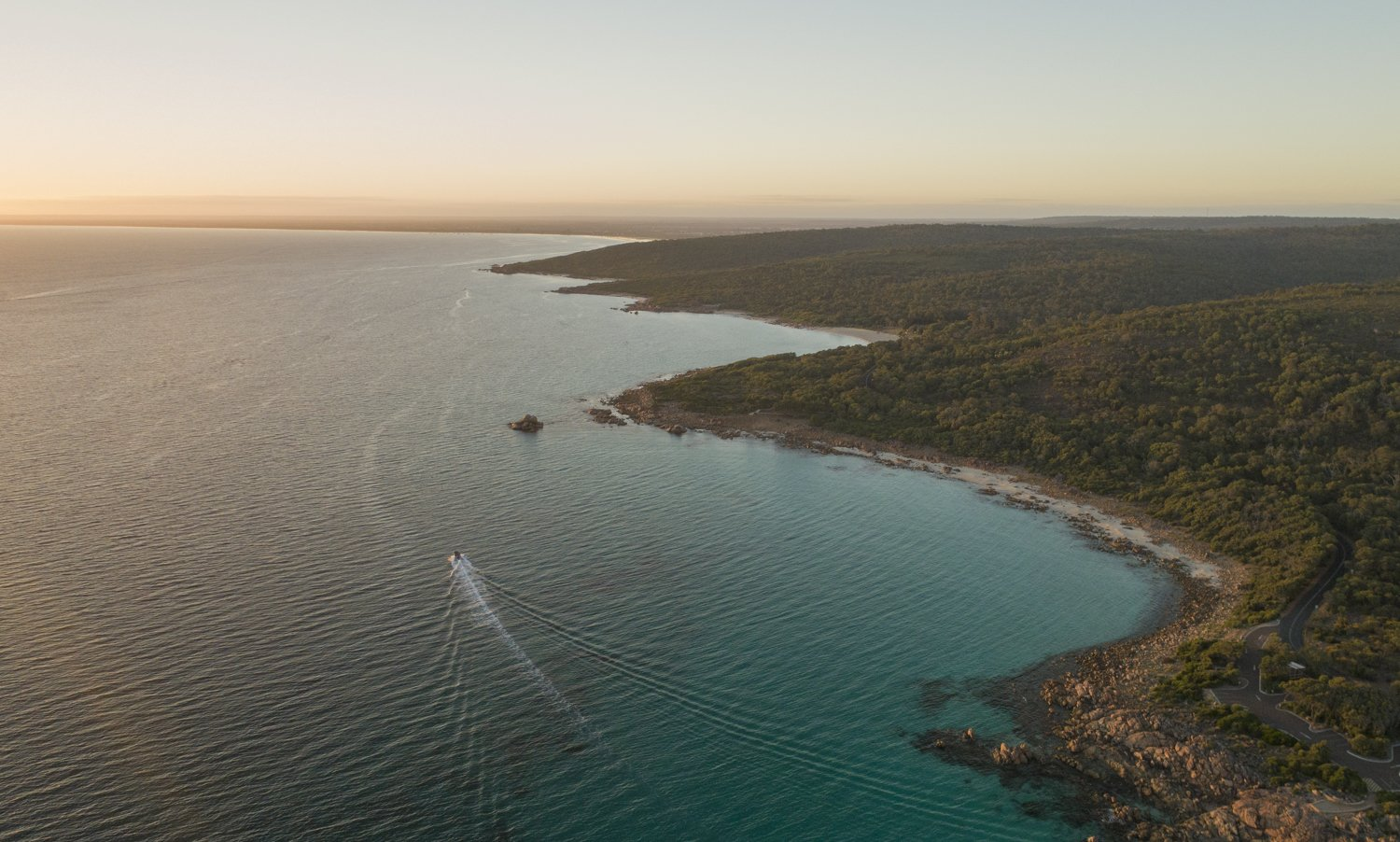 wide aerial scape in south west australia