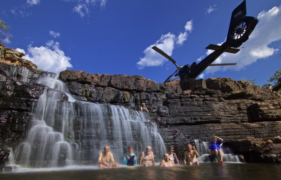 Fly to a secluded location and relax with an afternoon of swimming and exploring.