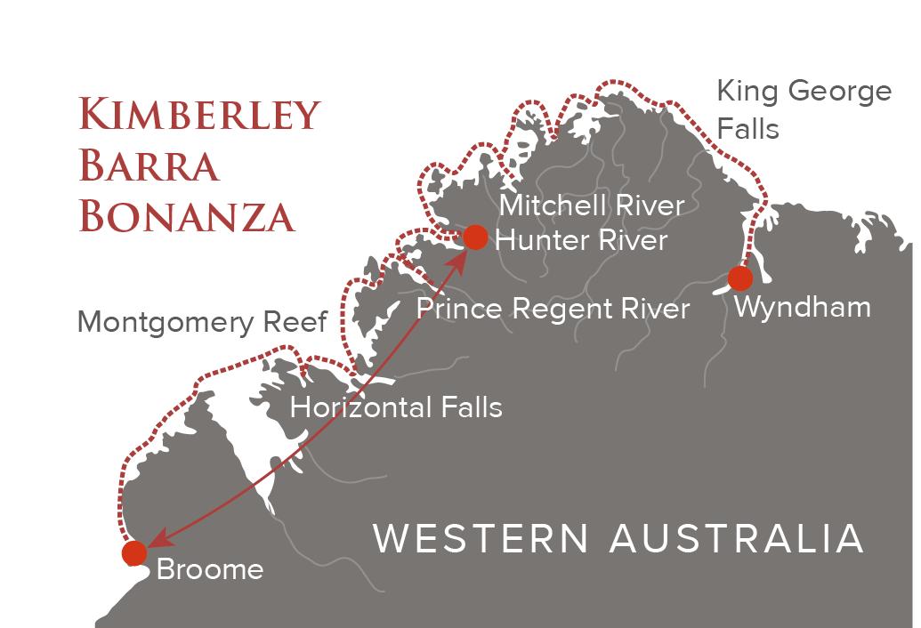 Kimberley Barra Bonanza Map