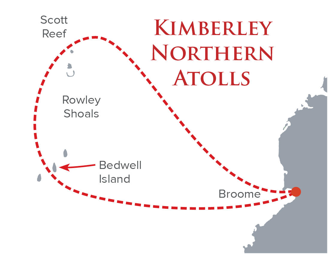 Kimberley Northern Atolls map