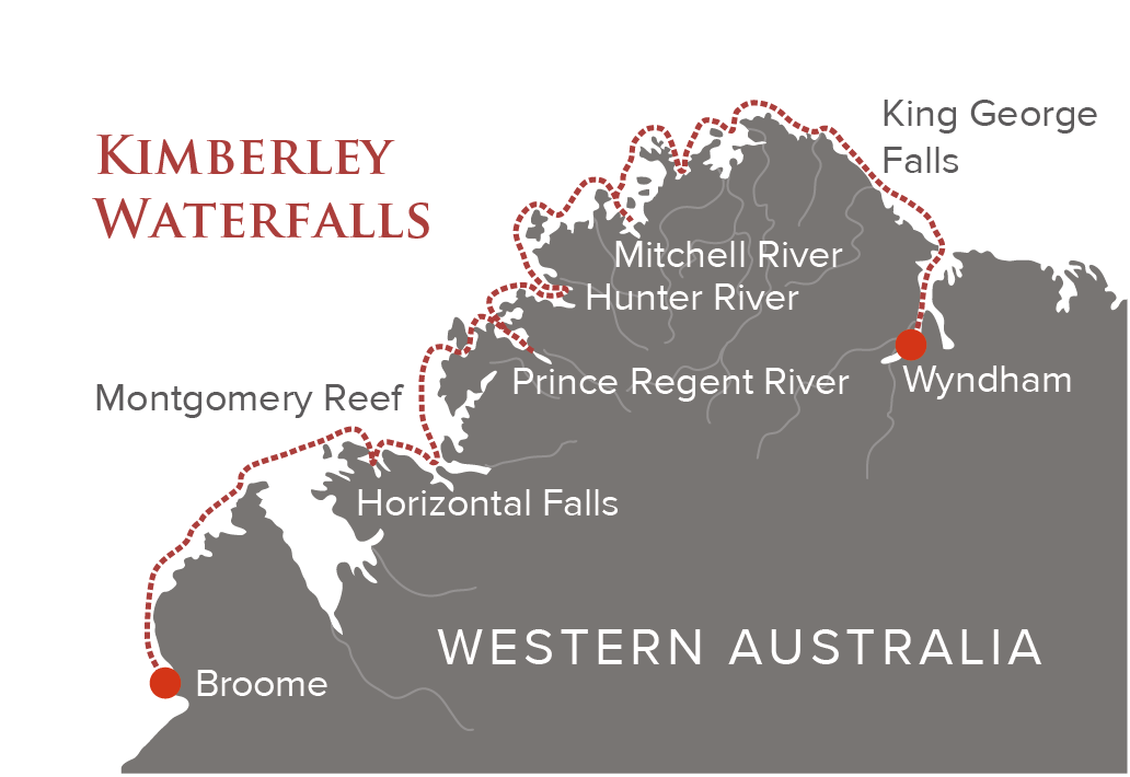 Kimberley Waterfalls Maps