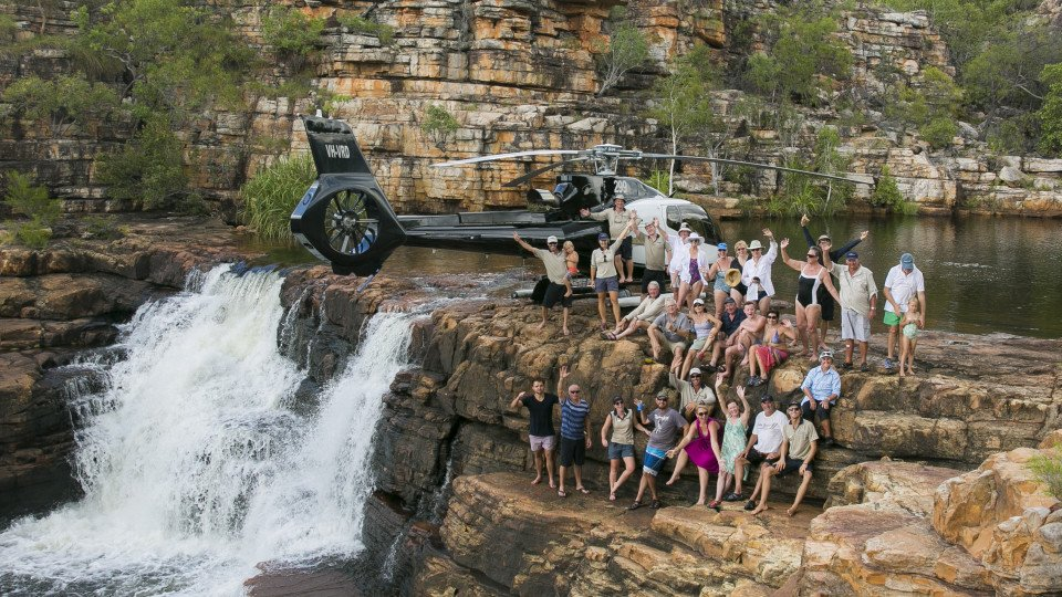 Spectacular Eagle Falls Helicopter flight!