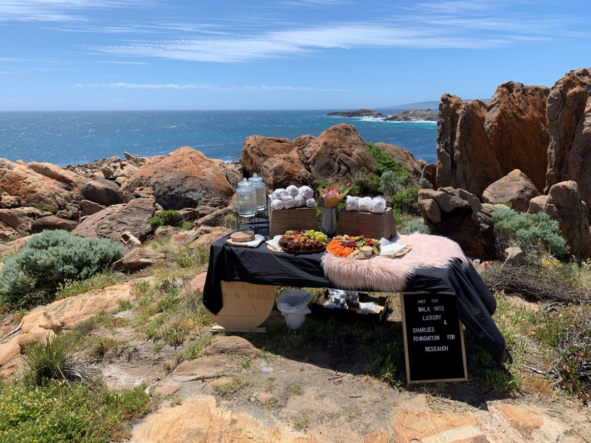 lunch set up at walk cape to cape