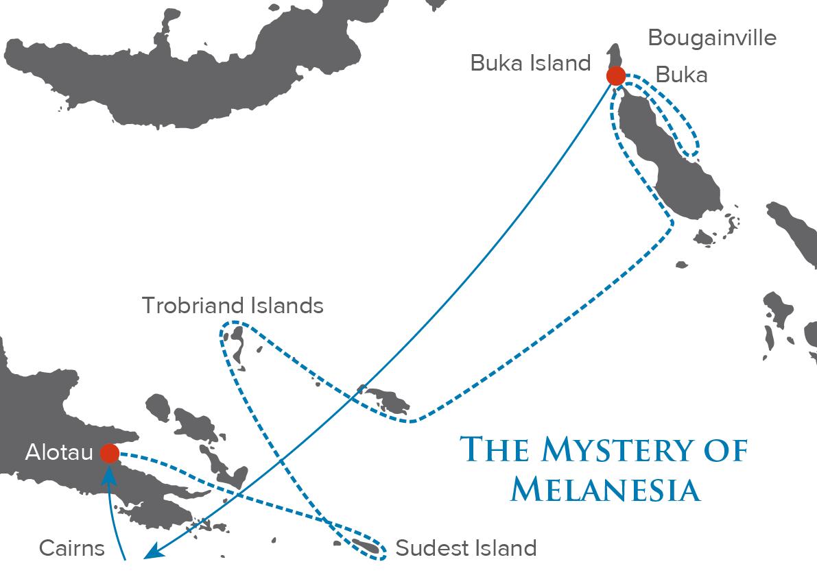 Mystery Of Melanesia Map