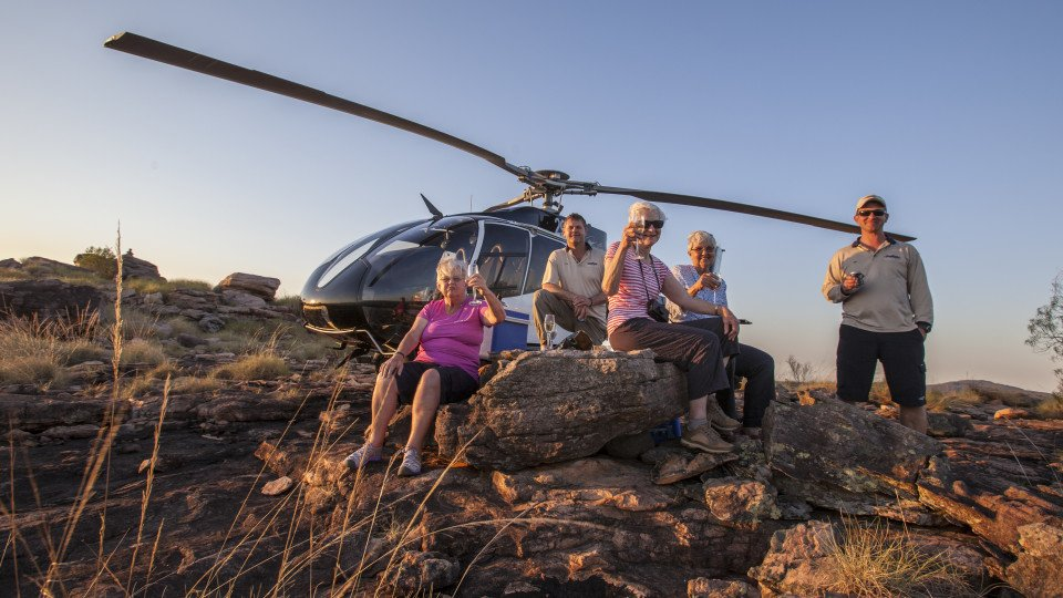 Take the Heli to an exciting hilltop location and watch the sun sink into the ocean.