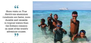 PNG Shore Visits on TRUE NORTH expedition boats