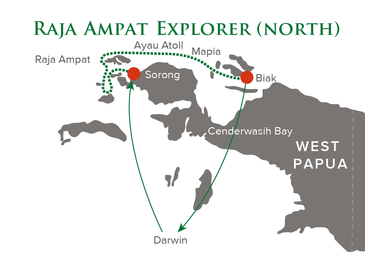 Raja Ampat Explorer North Map