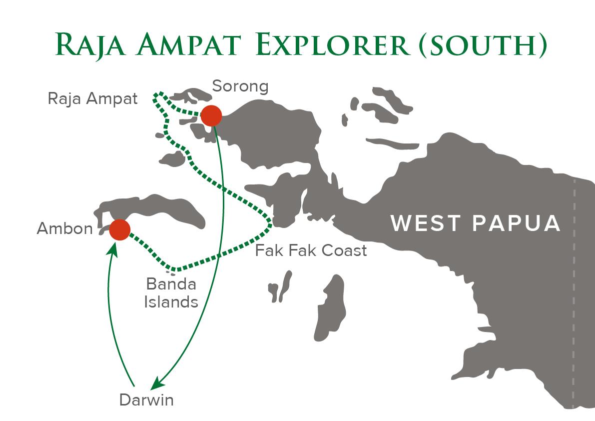Raja Ampat Explorer South Map