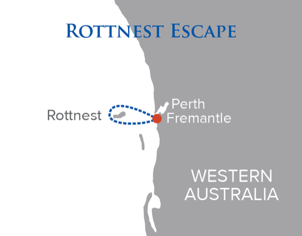 Rottnest escape itinerary map