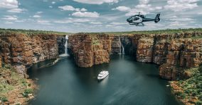 true north boat and helicopter