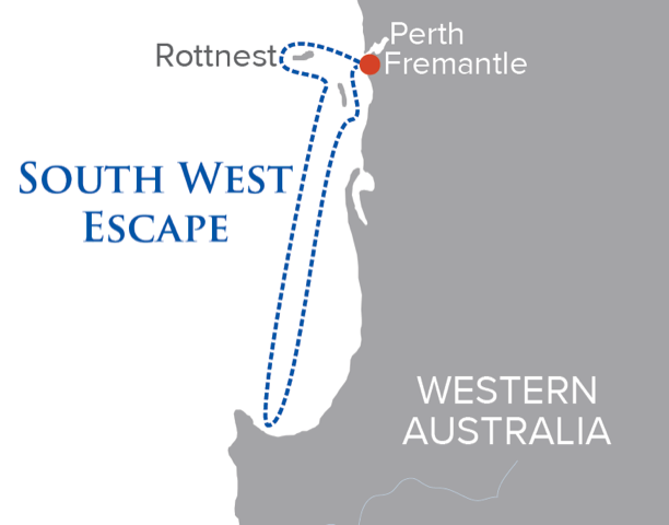 south west escape itinerary map