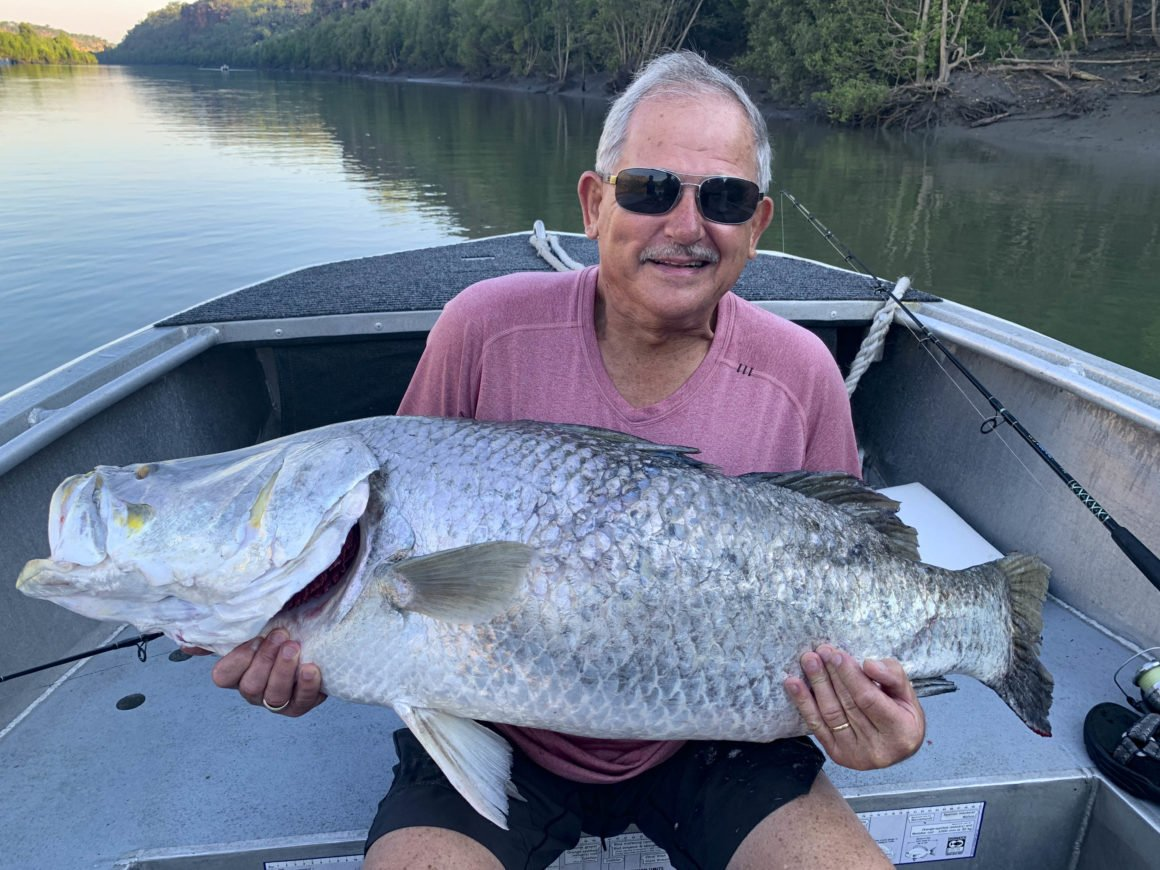 Brian Warren caught this monster barramundi