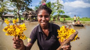 Sepik River - Flower Welcome