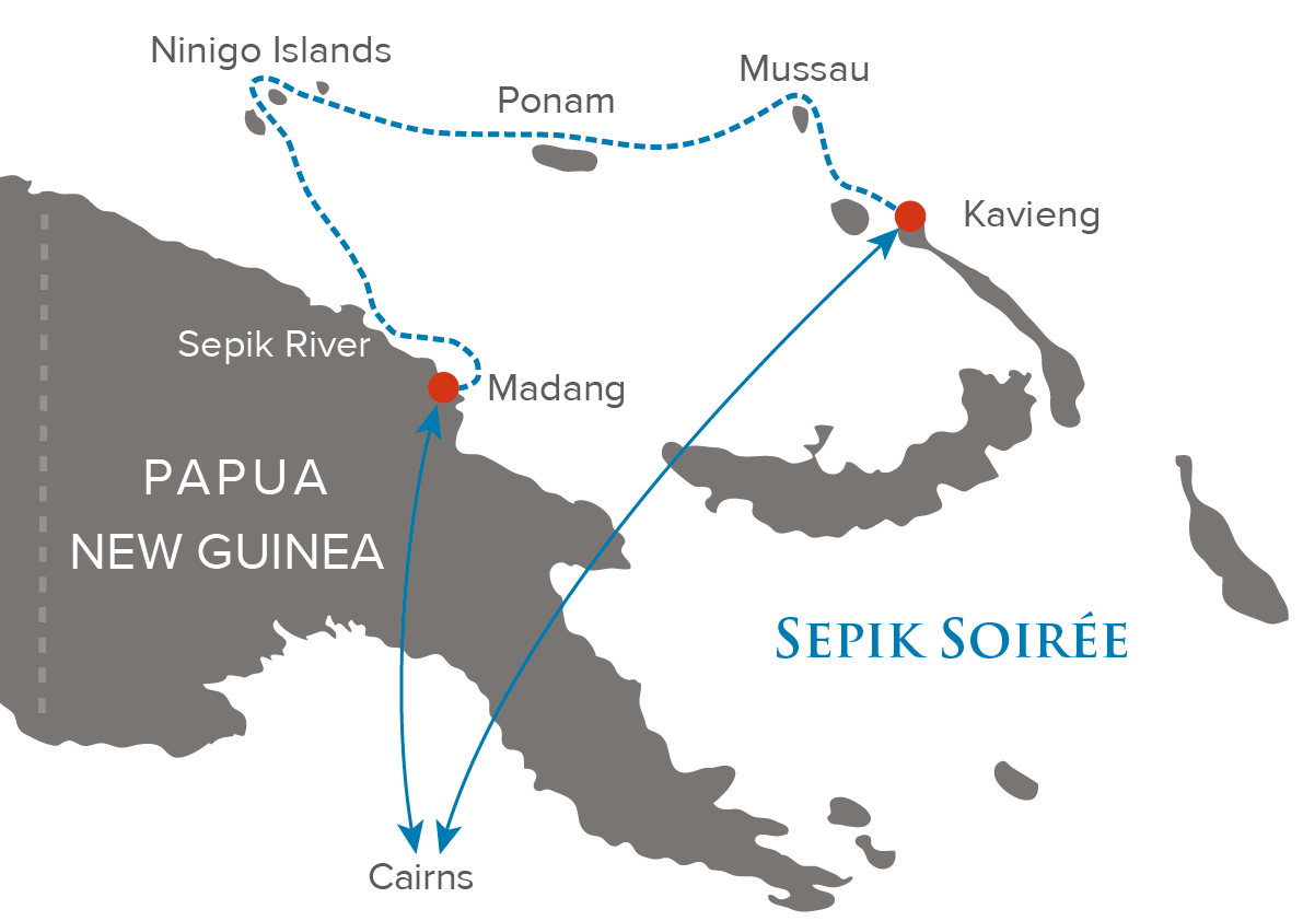 Sepik Soiree Map