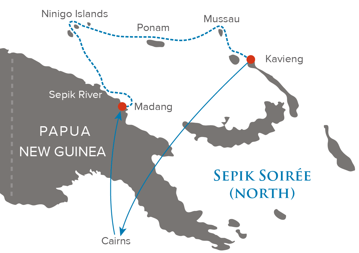 Sepik Soiree North Map