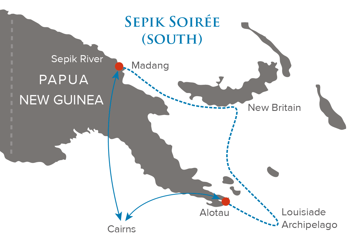 Sepik Soiree South Map