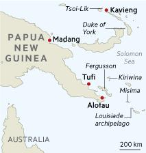 PNG Adventures in Paradise Map
