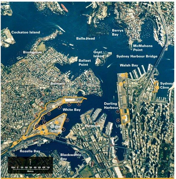 Sydney Berth 4 White Bay Map