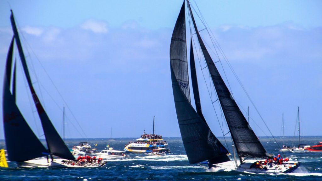Sydney To Hobart Race Contestants Under Sail
