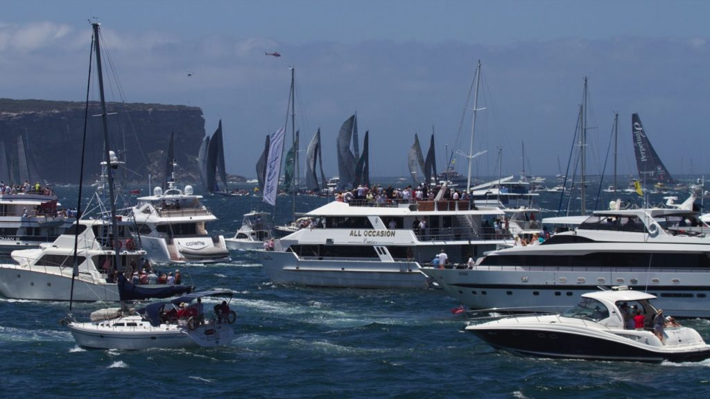 Sydney To Hobart Race Exiting The Heads