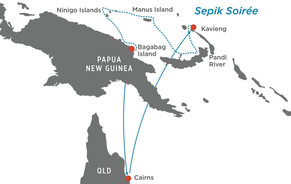 Sepik Soirée Map