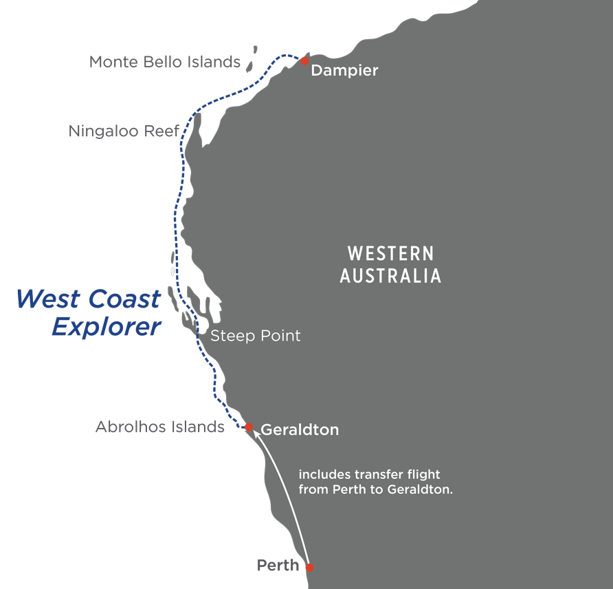 West Coast Explorer Map