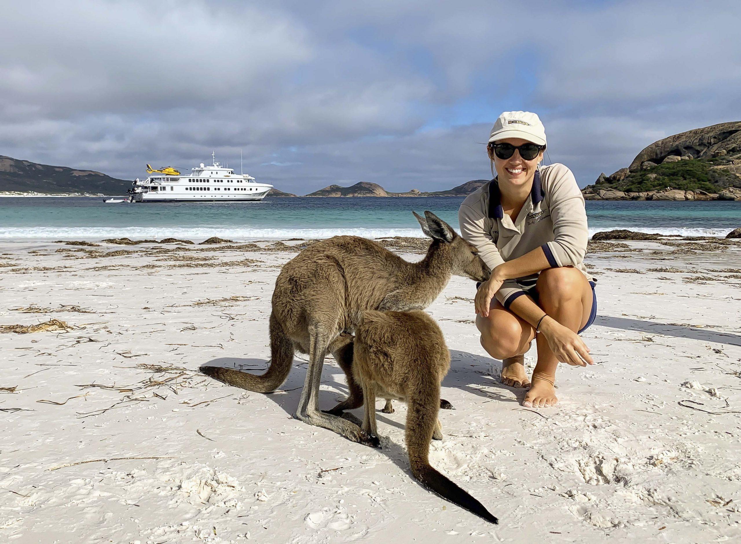 true north staff with baby kangaroo