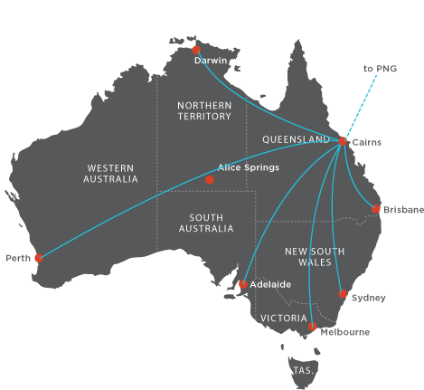 True North Connecting Flights Map