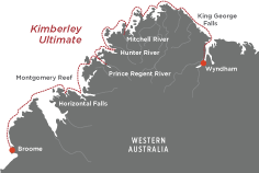 Map - Kimberley Ultimate Cruise with True North