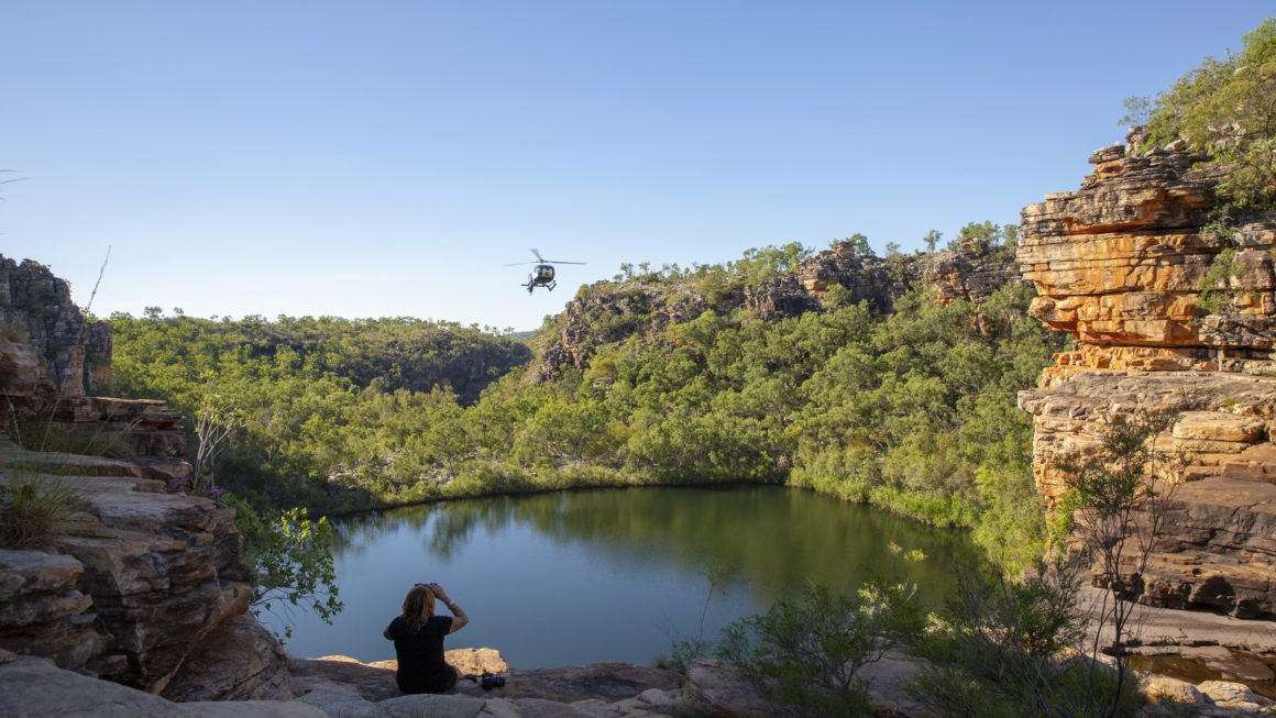 Heli-picnic at Eagle Falls Kimberley